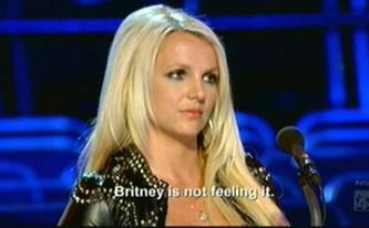 Britney is not amused