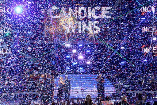 Candice wins! [photo: Matt Sayles/Invision/AP]