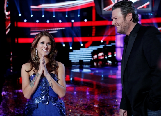 "Team Blake's Cassadee Pope wins ""The Voice"" Season 3 [photo: NBC]"