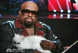 Cee Lo with his furry friend