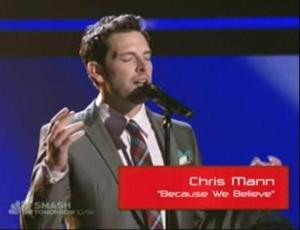 Chris Mann is Team Xtina