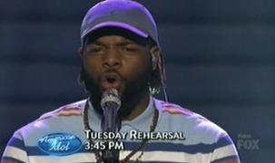 Jermaine in rehearsal, before getting the bad news