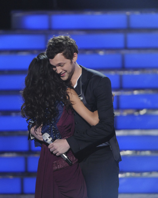 Jessica congratulates Phillip [photo: Fox]