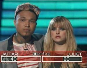 Juliet beats out Jamar