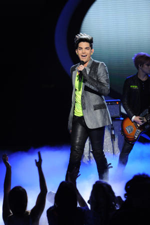 "Adam Lambert performs on ""Idol"" [photo: Fox]"