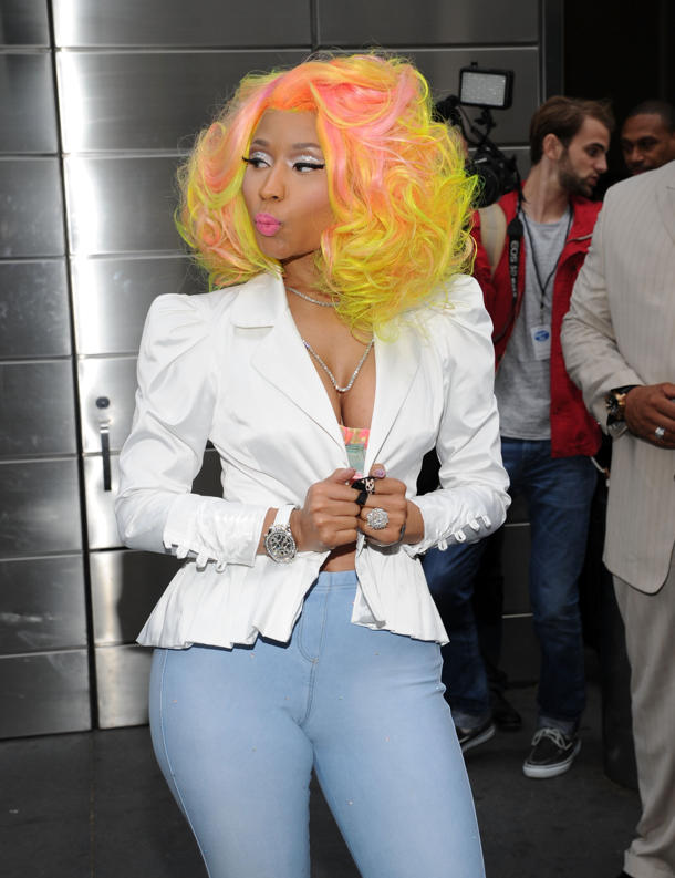 "Nicki on the ""Idol"" set [photo: Getty images]"