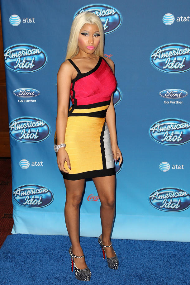 Nicki Minaj at the 'Idol' Season 12 premiere [photo: Jonathan Leibson/WireImage]