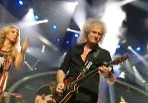 Elise rocks out with Brian May