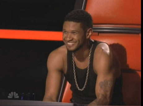 "Usher is sweatin' to the oldies, and newies, on ""The Voice"""