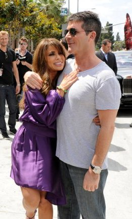 "Simon & Paula at the first ""X Factor"" taping [photo: Fox]"