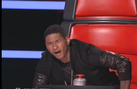 Usher can't believe his ears, eyes