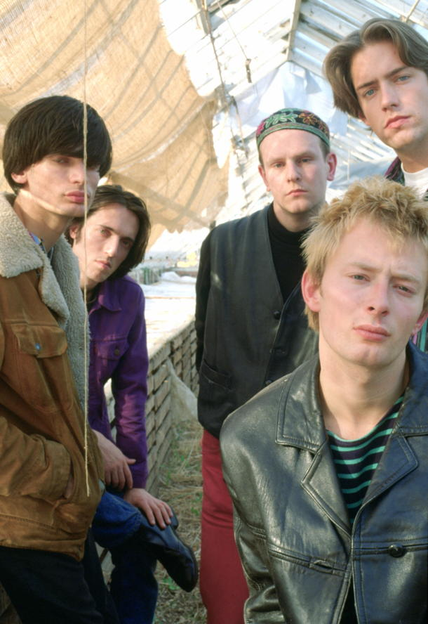 Radiohead in their early days [photo: Hulton Archive]