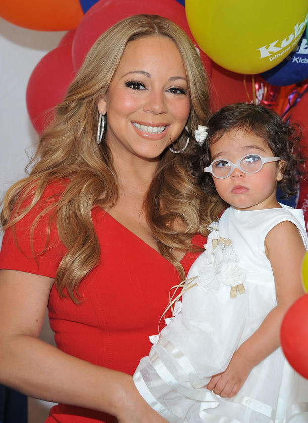 Mariah Carey with daughter Monroe [photo: Angela Weiss/Getty Images]