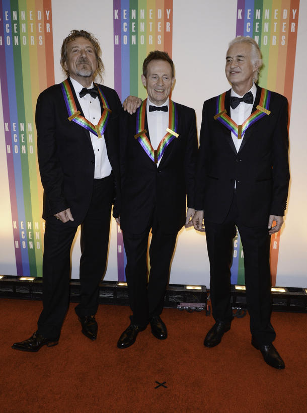 Robert Plant, John Paul Jones, and Jimmy Page at the 2012 Kennedy Center Honors [photo: Riccardo S. Savi]