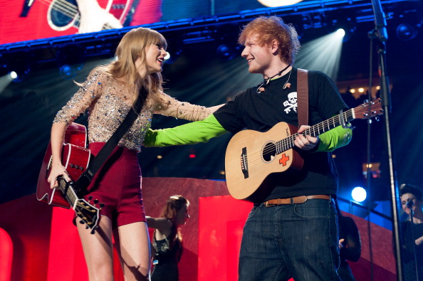 Sheeran and Swift (Photo: D Dipasupil)