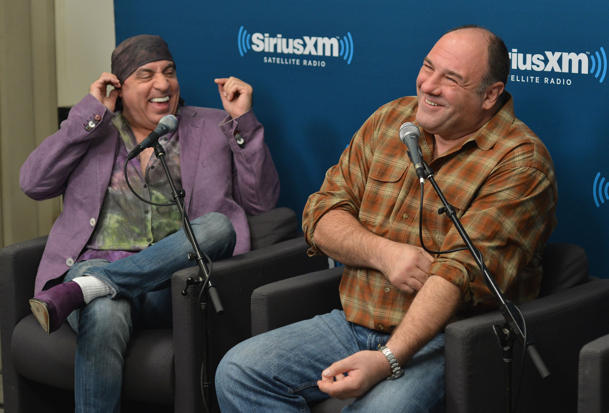Van Zandt & Gandolfini in 2012 [photo: Slaven Vlasic/Getty Images]