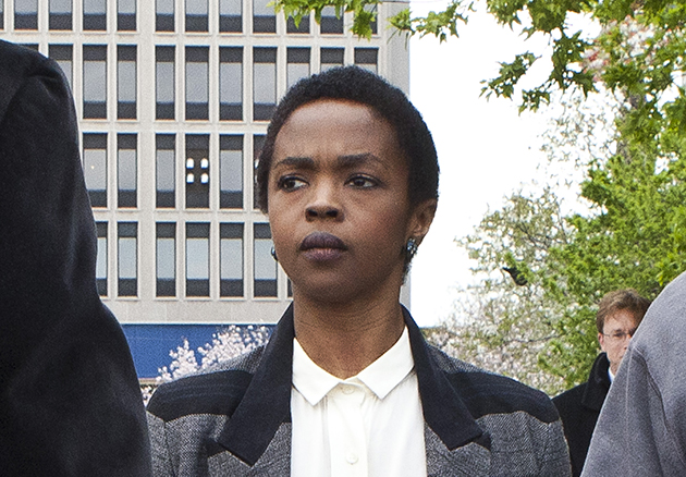 Lauryn Hill at the courthouse on Monday [Photo: Kena Betancur/Getty Images]