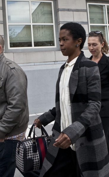 Hill at her April 22 court date [photo: Kena Betancur/Getty]