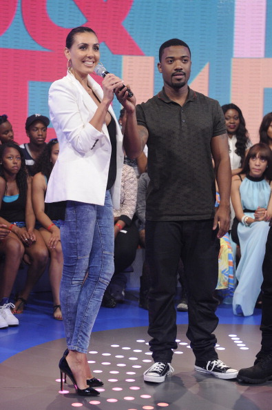 Ray J and model Luba (Photo: John Ricard)
