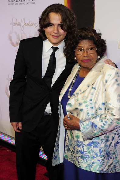 Prince and Katherine Jackson [photo: Steven Lawton Collection/FilmMagic]