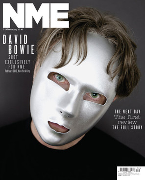 Bowie, or part of him, on the cover of NME