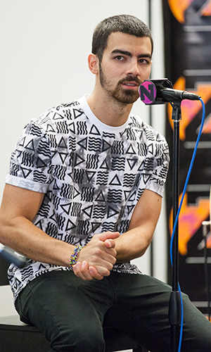 "Joe Jonas talks about ""growing up Disney."" (Rachel Kaplan)"