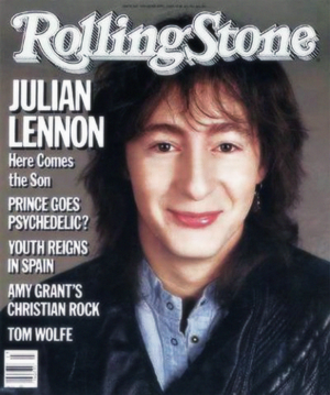 On the cover of the Rolling Stone in 1985