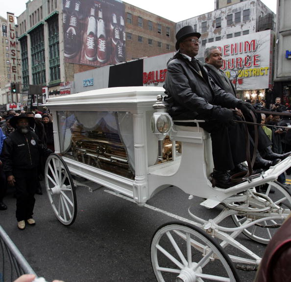 The procession in Harlem [Getty Images]