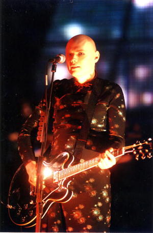 The Smashing Pumpkins' Billy Corgan in 1996. (Photo: Jeff Kravitz)