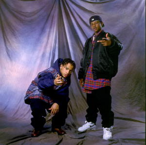 Chris Smith (l), Chris Kelly (r) of Kris Kross [Photo: Paul Natkin/WireImage]