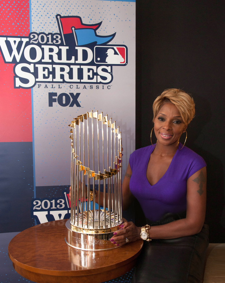 Mary J. Blige will hit the World Series. (Jessica Foster/MLB)