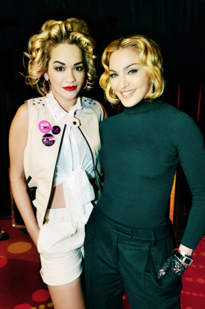 Rita Ora and Madonna (Photo courtesy of Matrial Girl)