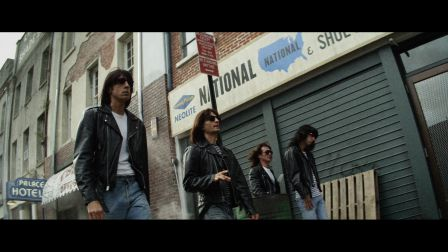The Ramones as portrayed in CBGB