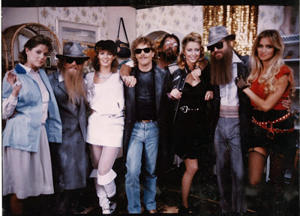 ZZ Top with Legs girls