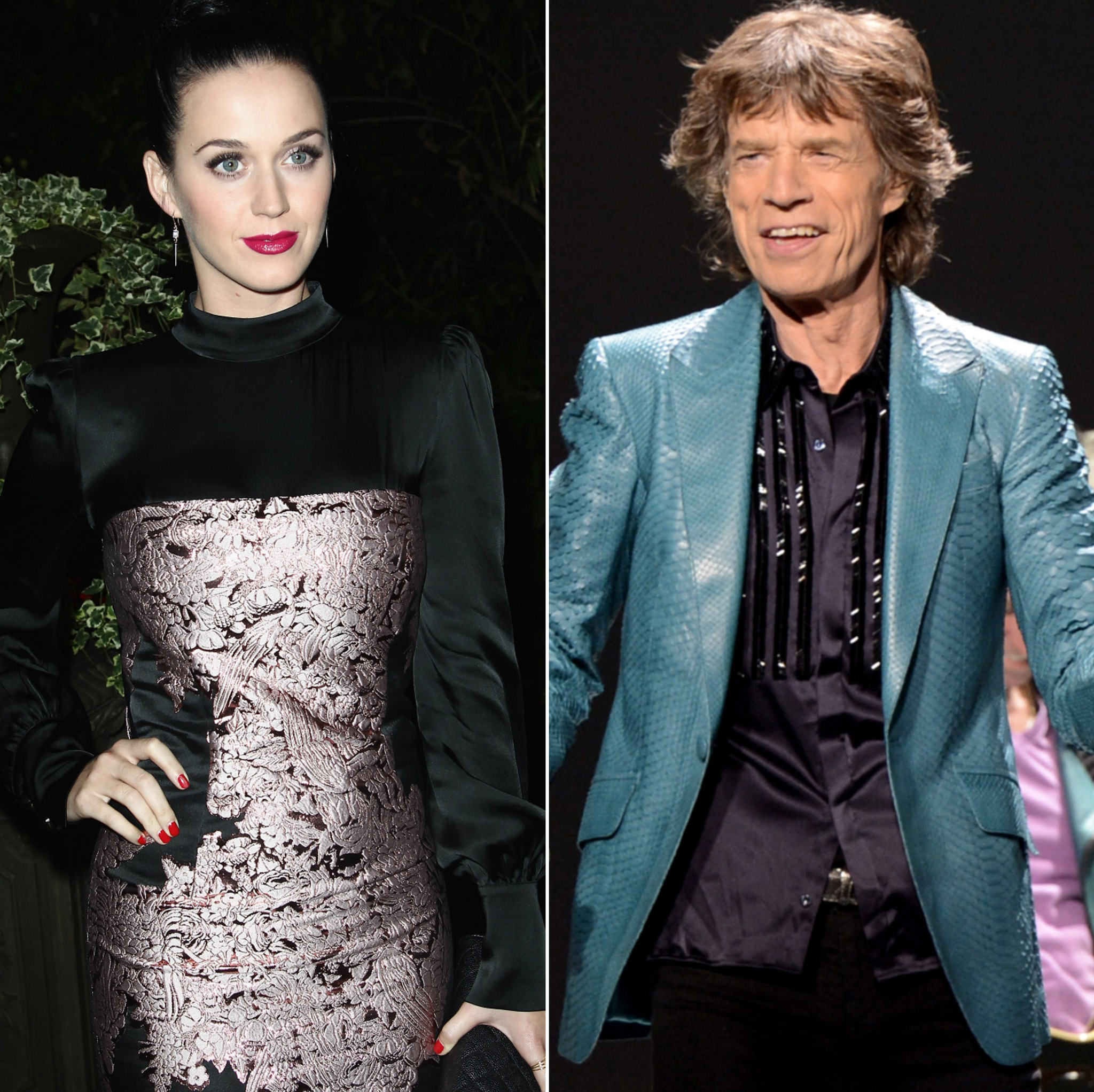 Mick Jagger and Katy Perry (Getty Images)