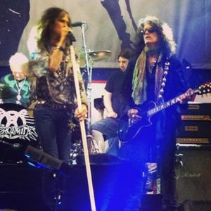 Steven Tyler and Joe Perry rehearse [aconcertforboston.org]