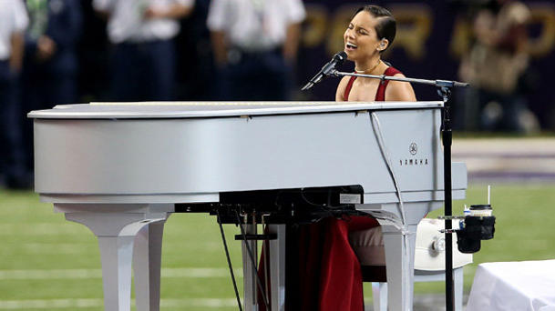 Alicia Keys... creative anthem champ or dirge singer? (Getty Images)