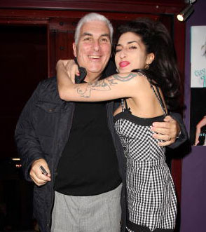 Mitch Winehouse with Amy. Photo: Fred Duval/FilmMagic