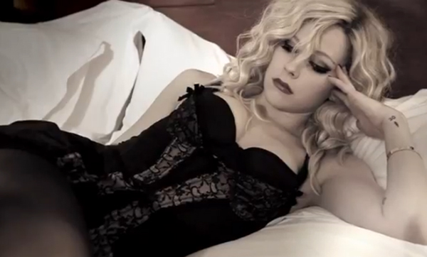 Avril Lavigne's Gift To Her Fans: A Sultry New Lingerie Look!