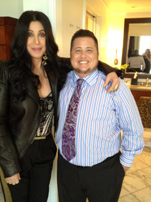 Cher and son Chaz/Twitter