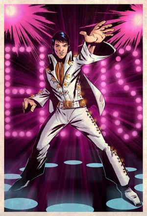 "Art from ""Graphic Elvis"" by Jeevan J. Kang/Liquid Comics"