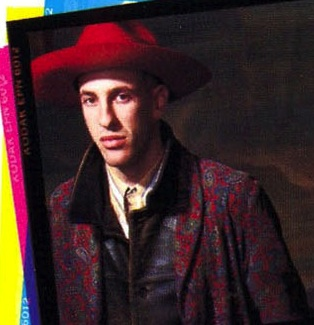 Hillel Slovak on the back of 'Freaky Styley' album