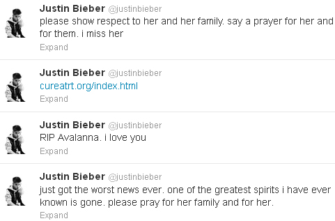 6-Year-Old Justin Bieber Fan Avalanna Routh Dies Of Cancer