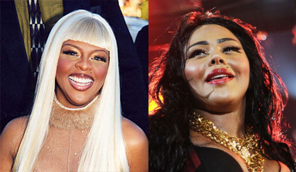 Lil' Kim in 1999 & 2013 [Photos: Jeff Kravitz/FilmMagic; Ilya S. Savenok/Getty Images]