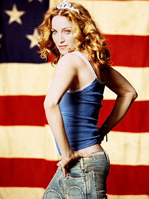 "Madonna in the ""American Pie"" video"