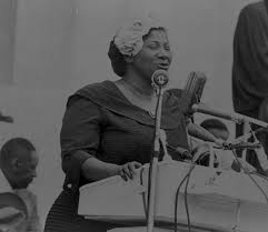 Mahalia Jackson at the march
