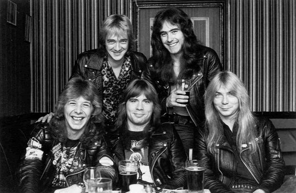 Burr (bottom left) with Iron Maiden/Ironmaiden.com