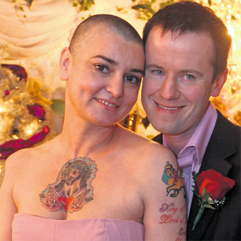 Sinead O'Connor and fourth husband Barry Herridge, getting married in Las Vegas