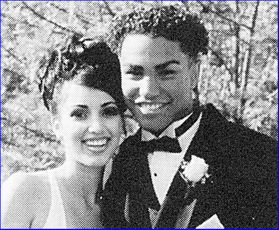Kim Kardashian and TJ Jackson, as teens