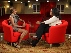 "Whitney Houston on ""The Oprah Winfrey Show"" in 2009."